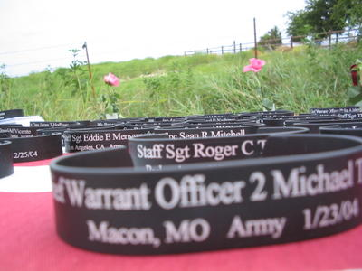 Bracelets with Names of Dead