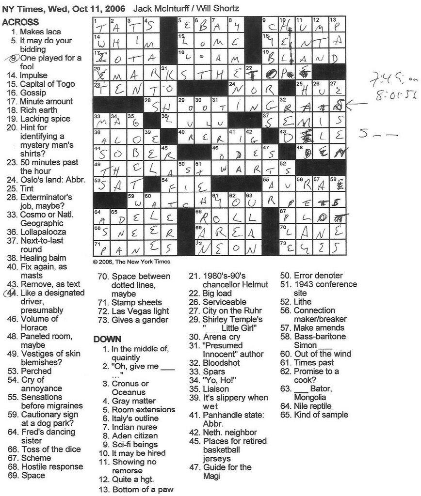 time reversal crossword