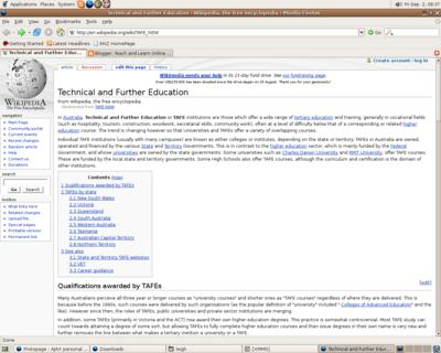 wikipedia entry for TAFE