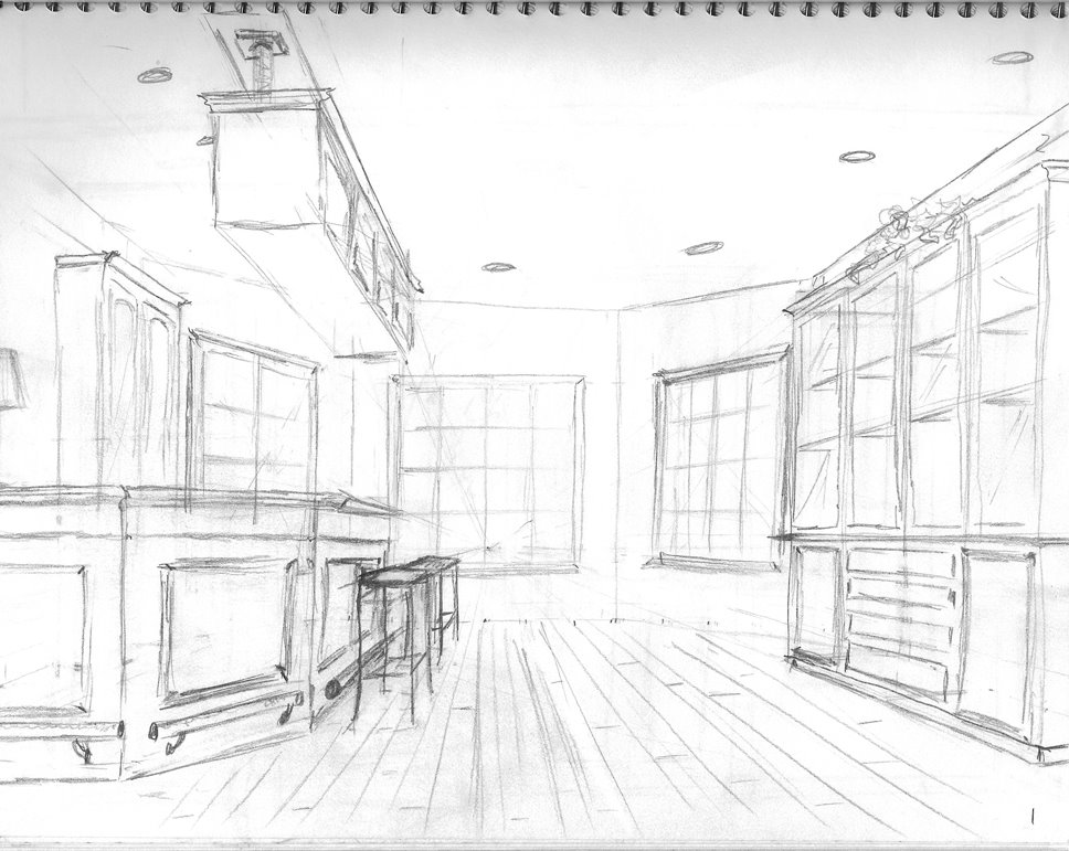 INTERIOR DESIGN  MY PERSPECTIVE DRAWINGS  lifes colorful brushstrokes