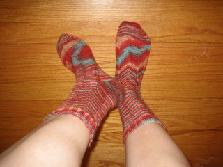 Completed Jaywalker socks