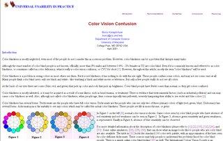 COLOR VISION CONFUSION
