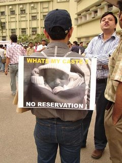 No reservation is also a caste