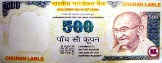 Fake 500 Rupee Note