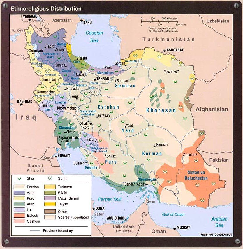 Iran ethnic map
