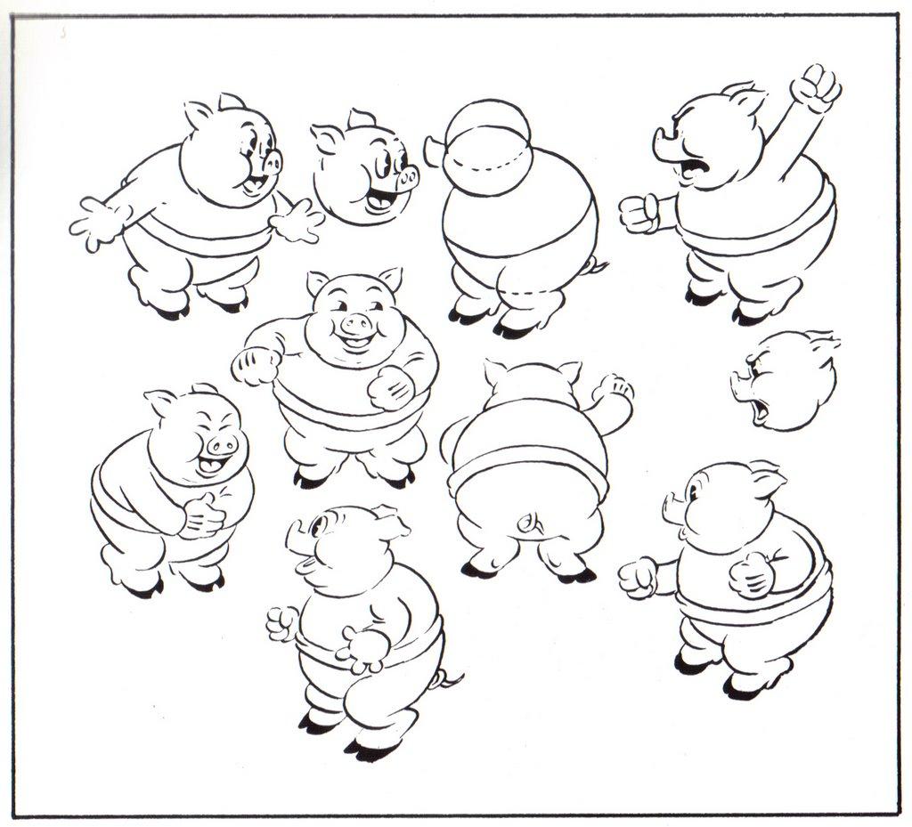 Cartoons, Model Sheets, & Stuff: Porky Pig Model Sheets