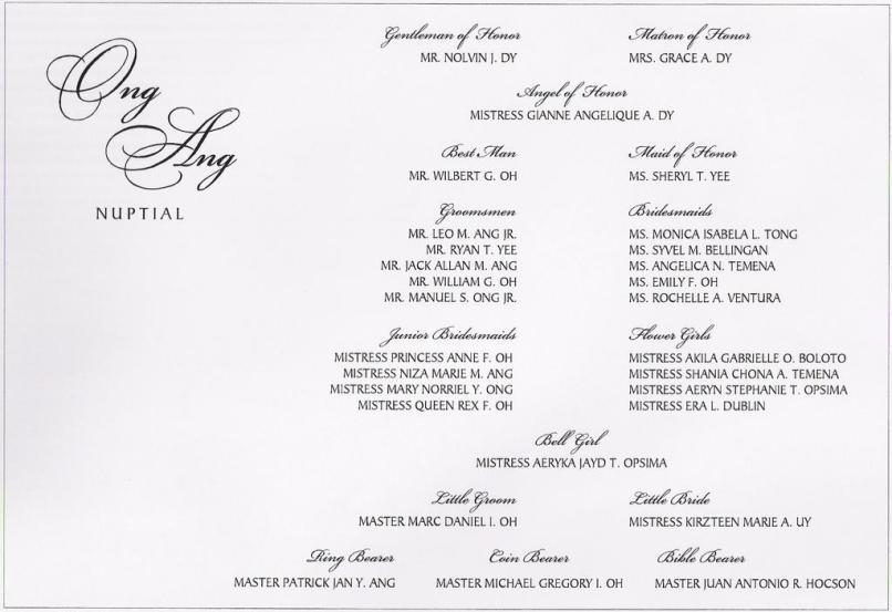 Sample wedding invitation entourage format invitationjpg wedding invitation sample format with entourage matik for stopboris Gallery