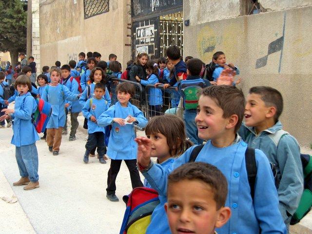 Image result for kids in blue uniform
