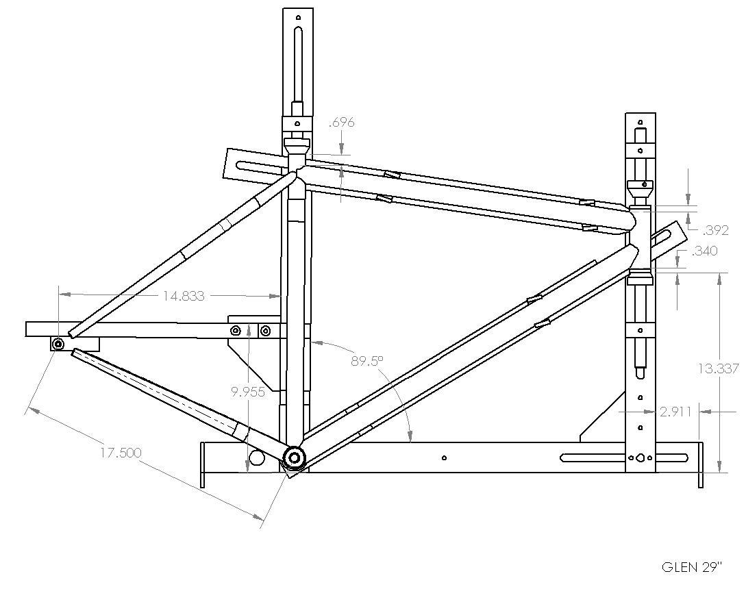 Back40 Bicycleworks Jig Drawing