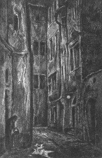 Hugo Steiner, Γκραβούρες από το βιβλίο του Gustav Meyrink, Το Γκόλεμ