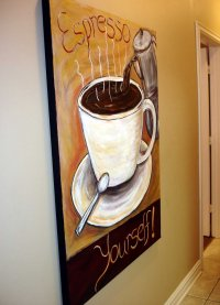 The Modern Artist: Coffee wall decor, coffee collectible ...