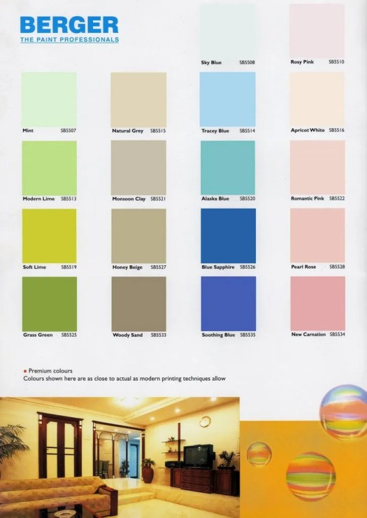 Berger Paints Interior Colour Chart Jamaica