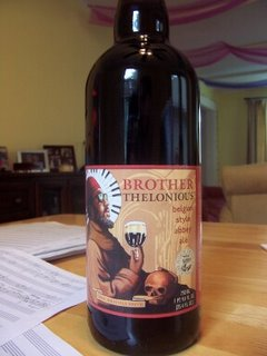 bottle of Thelonious Monk ale