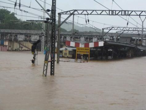 Submerged railway station