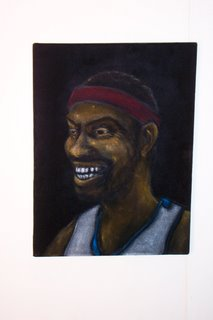 Rasheed Wallace on black velvet