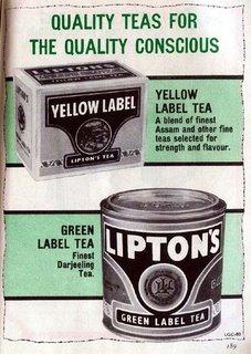 Lipton's - Yellow Label Tea and Green Label Tree