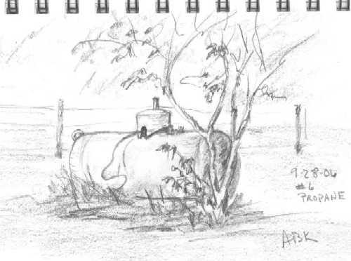 Sketch, Draw, Paint!: Propane Tank Sketch