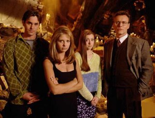 Xander, Giles, Buffy y Willow