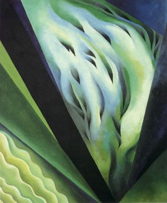 Georgia OKeeffe, Blue and Green Music - 1919, Oil on canvas, 58,4 x 48,3 cm, Art Institute of Chicago, oseculoprodigioso