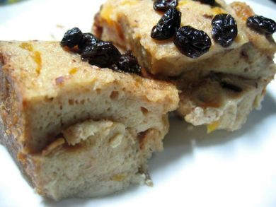 slices of bread pudding