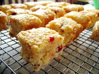 cherry coconut slice