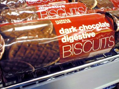 Marks and Spencer's dark chocolate digestives