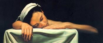 Muchacha dormida. Santiago Carbonell