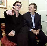 Bono y Bill Gates