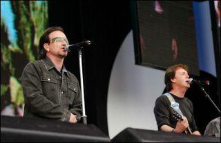 Paul McCartney y U2 en Live 8