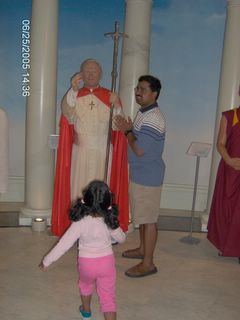 Pope (Not the Benedict) John Paul - Indian Style  - Wax Museum