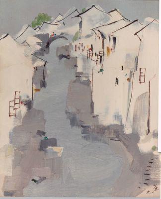 Wu Guanzhong - Waterway (1991)