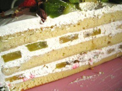 Kiwi Cake Cross-section