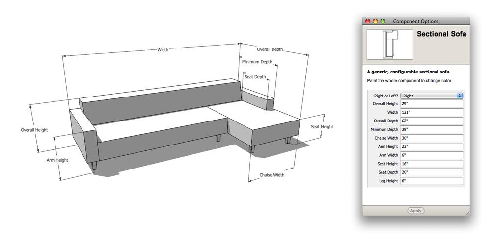 standard sofa table length irish world reviews retired sketchup blog: the nerdiest shopping tool ever