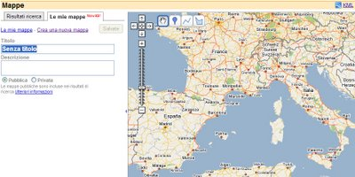 crea mappa con Google Maps Italia back office