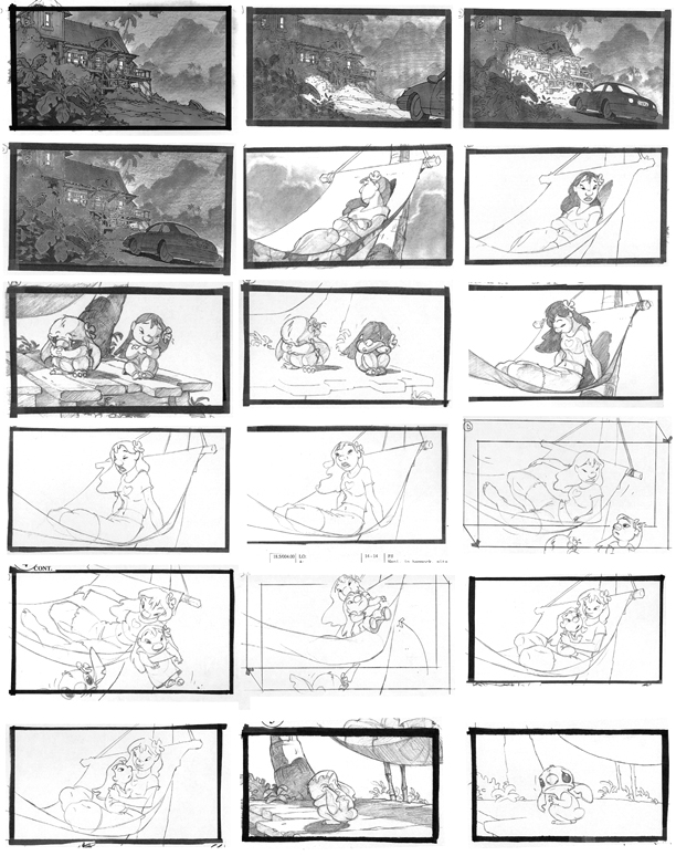 Studio Practice: Storyboard Research: Lilo and Stitch
