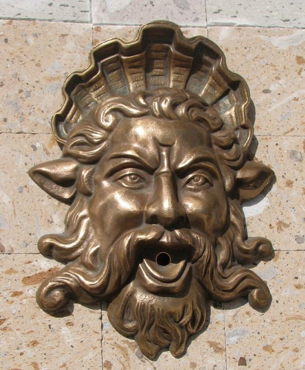 Fountains Unique Llc Bronze Neptune Mask