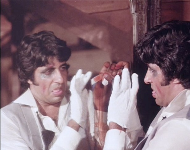 Image result for The popular mirror scene of the movie amar akbar anthony