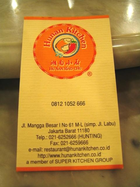 Dancing Blue Seal: Hunan Kitchen, Jakarta