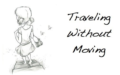 Traveling Without Moving: red, gold, and green
