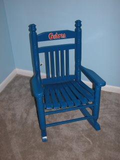 florida gator rocking chair wooden restaurant high tray fernwood designs: child's fl