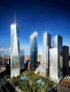 The newest version of the future WTC complex, unveiled on September 7, 2006