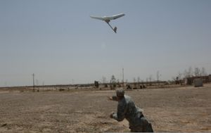 The Raven is a remote-controlled unmanned aerial vehicle used by the U.S. military.