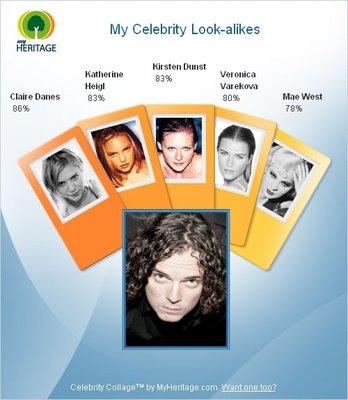 MyHeritage.com Celebrity Collage
