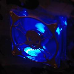 PC fan, looking neat with a blue light on it oslt