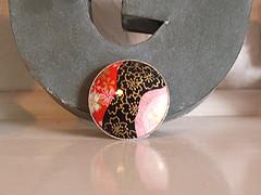 Washi paper brooch