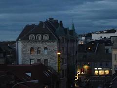Midnight hotel window