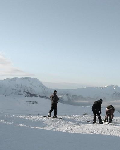 Snowboarding The Alps