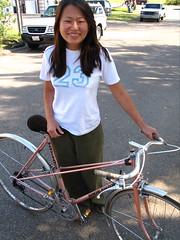 riding French bike