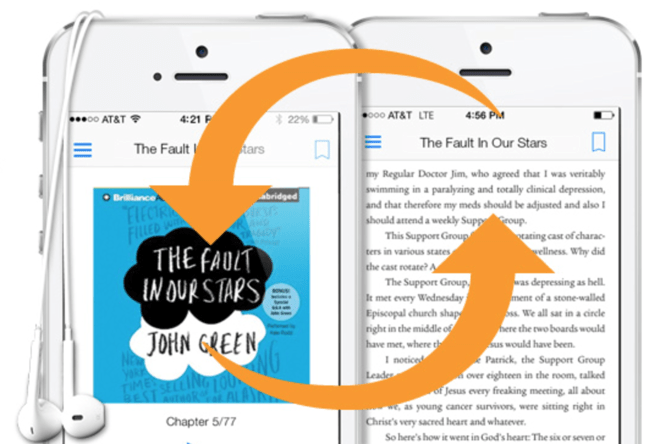 Kindle users can switch between reading and listening without leaving the app - peoplewhowrite