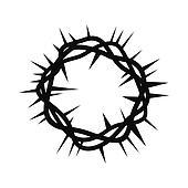 Stock Illustration of crucifixion, bramble, whip